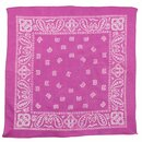 Bandana Tuch - Paisley Muster pink - weiß - quadratisches...